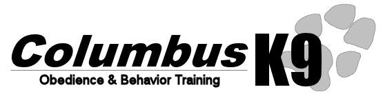 Columbus K9: Full service training for your dog!